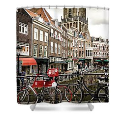 Shower Curtain featuring the photograph The Vismarkt In Utrecht by RicardMN Photography