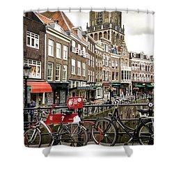 The Vismarkt In Utrecht Shower Curtain by RicardMN Photography