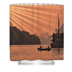 The Voyage Ha Long Bay Vietnam  Shower Curtain