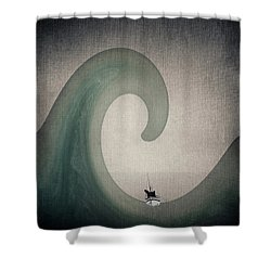 The Voyage Of The James Caird. Shower Curtain by Andy Walsh