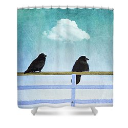 The Wait Shower Curtain by Priska Wettstein