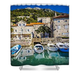 The Waiting Boats Shower Curtain