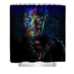 The Walking Dead Daryl Dixon Painted Shower Curtain by David Haskett