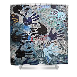The Wall 34 Shower Curtain