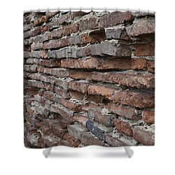 Shower Curtain featuring the photograph The Wall by Cendrine Marrouat