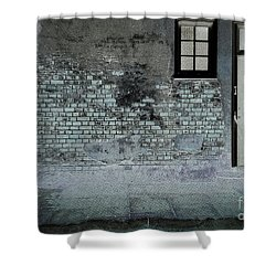 Shower Curtain featuring the photograph The Wall by Douglas Stucky