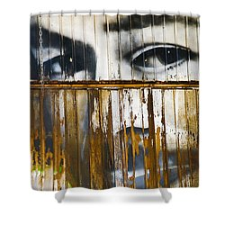 The Walls Have Eyes Shower Curtain