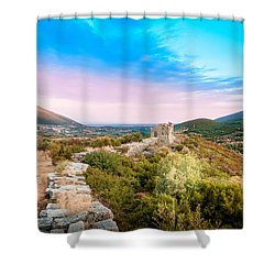 The Walls Of Ancient Messene - Greece. Shower Curtain