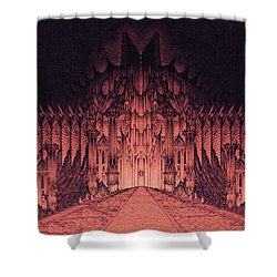 The Walls Of Barad Dur Shower Curtain by Curtiss Shaffer