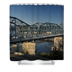 The Walnut St. Bridge Shower Curtain