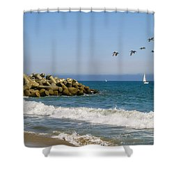 The Walton Lighthouse Shower Curtain