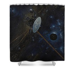 The Wanderer Shower Curtain by Simon Kregar