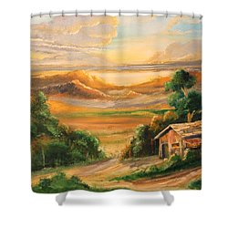 The Warmth Of Sunset Shower Curtain