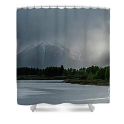 Shower Curtain featuring the photograph The Warning by Sandra Bronstein