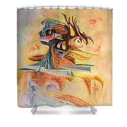 The Warrior Shower Curtain by Dave Martsolf
