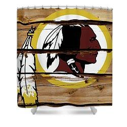 The Washington Redskins 18a Shower Curtain
