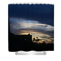 Shower Curtain featuring the photograph The Watch Tower by Broderick Delaney
