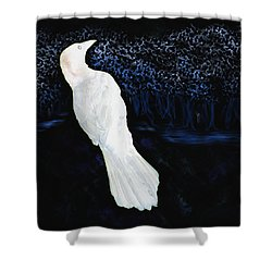 The Watcher In The Forest Shower Curtain by Aliceann Carlton