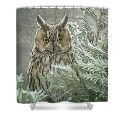 The Watcher In The Mist Shower Curtain