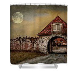The Watcher Shower Curtain by Robin-Lee Vieira