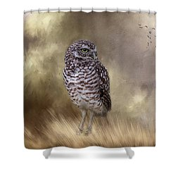 Shower Curtain featuring the photograph The Watchful Eye by Kim Hojnacki