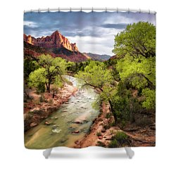 Shower Curtain featuring the photograph The Watchman by Eduard Moldoveanu