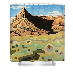 The Watchtower Shower Curtain by Dale Beckman