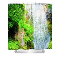 The Water Falls Shower Curtain