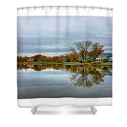 Peaceful Lake Shower Curtain by Lauren Fitzpatrick