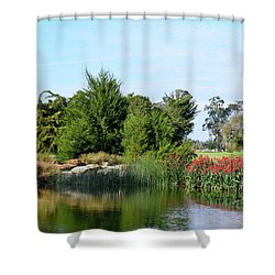 Shower Curtain featuring the photograph The Water On Number One Santa Maria Country Club by Barbara Snyder