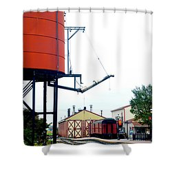 Shower Curtain featuring the photograph The Water Tower by Paul W Faust - Impressions of Light