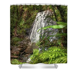 Shower Curtain featuring the photograph The Waterfall by Hanny Heim