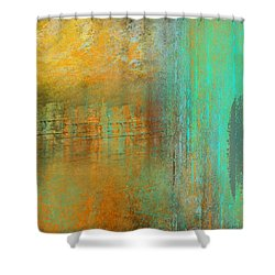 Shower Curtain featuring the digital art The Waterfall by Jessica Wright