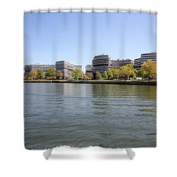 The Watergate Complex Shower Curtain