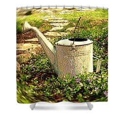 The Watering Can Shower Curtain