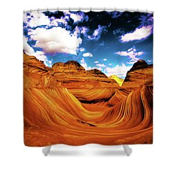 Shower Curtain featuring the photograph The Wave Arizona Light by Norman Hall