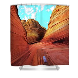 Shower Curtain featuring the photograph The Wave Arizona by Norman Hall