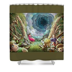 The Wave Of Space And Time Shower Curtain