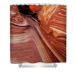 Shower Curtain featuring the photograph The Wave Trail by Norman Hall