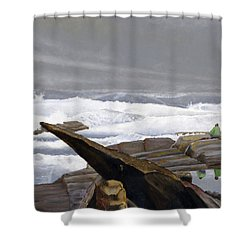 The Wave Watchers Shower Curtain