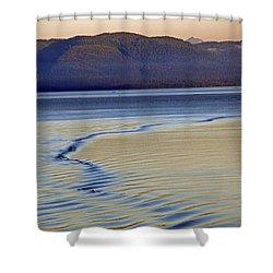 The Waves Shower Curtain by Carol  Eliassen