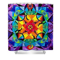 The Way - Arcturian Blue Ray Grid Shower Curtain