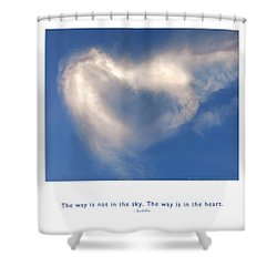 Shower Curtain featuring the photograph The Way Is In The Heart by Kristen Fox