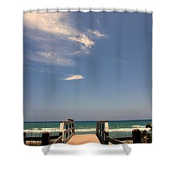 The Way Out To The Beach Shower Curtain by Susanne Van Hulst