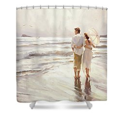 Shower Curtain featuring the painting The Way That It Should Be by Steve Henderson