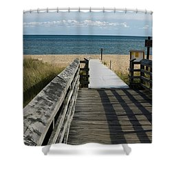 Shower Curtain featuring the photograph The Way To The Beach by Tara Lynn