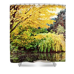 The Wayfarer Pond Shower Curtain