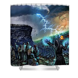 The Weak Shall Bring Us Down Shower Curtain