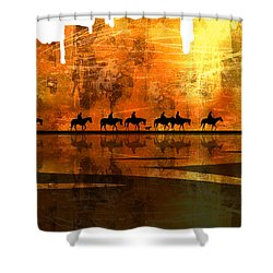 The Weary Journey Shower Curtain