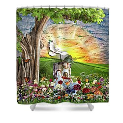 The Weary Warrior  Shower Curtain by Dolores Develde
